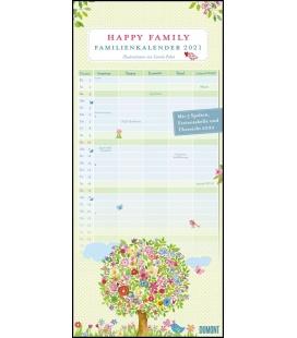 Wall calendar Familienkalender Happy Family 2021