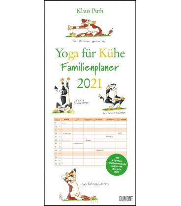 Wall calendar Familienkalender Yoga für Kühe 2021