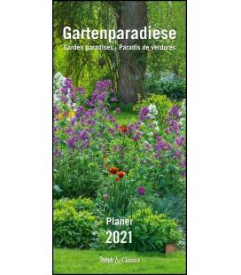 Wall calendar Gartenparadiese T&C 2021