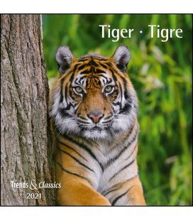 Wall calendar Tiger T&C  (NPL) 2021