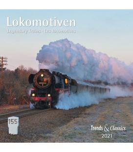 Wall calendar Lokomotiven T&C 2021