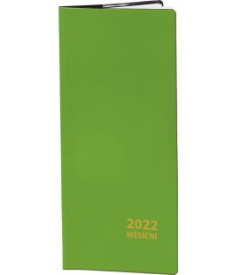 Pocket diary monthly PVC - green 2022