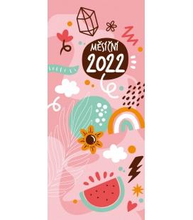 Pocket diary monthly lamino - Kresby 2022