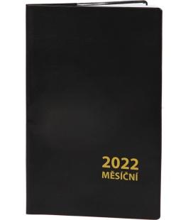Pocket diary monthly PVC - MINI - black 2022