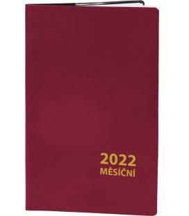 Pocket diary monthly PVC - MINI - bordo 2022