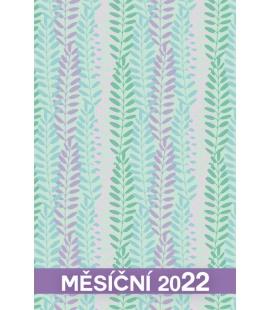 Pocket diary monthly lamino - MINI - Lístečky 2022