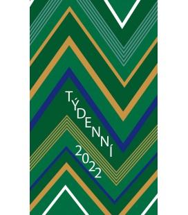 Pocket diary fortnightly lamino - Zelená 2022