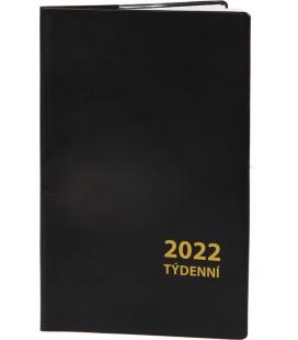 Pocket diary fortnightly PVC - black 2022