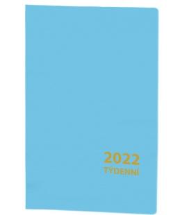 Pocket diary fortnightly PVC - blue 2022