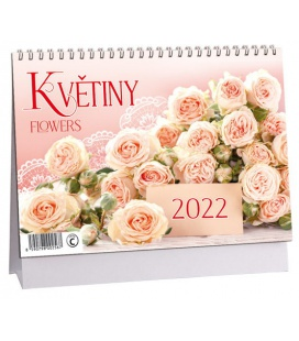 Table calendar Květiny 2022