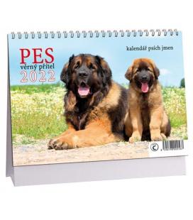 Table calendar Pes - věrný přítel /s psími jmény/ 2022