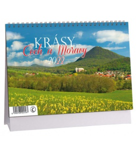 Table calendar Krásy Čech a Moravy 2022