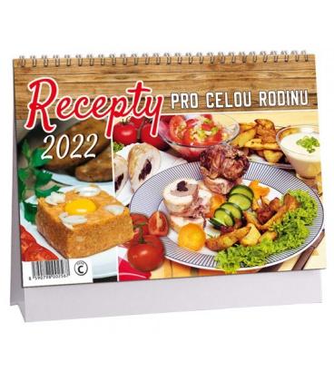 Table calendar Recepty pro celou rodinu 2022
