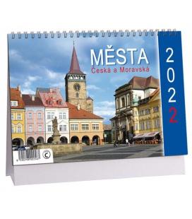 Table calendar Města Čech a Moravy 2022