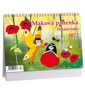 Table calendar Maková panenka - omalovánky 2022