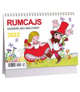 Table calendar Rumcajs - omalovánky 2022