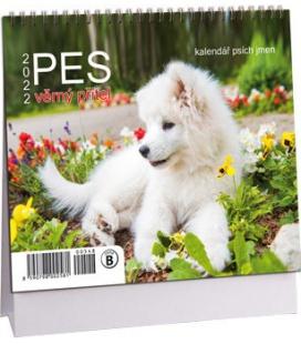 Table calendar Pes - věrný přítel mini /s psími jmény/ 2022