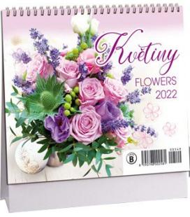 Table calendar Květiny mini 2022