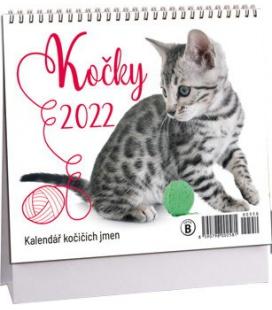Table calendar Kočky mini /s kočičími jmény/ 2022