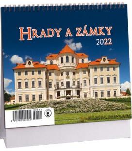 Table calendar Hrady a zámky mini 2022