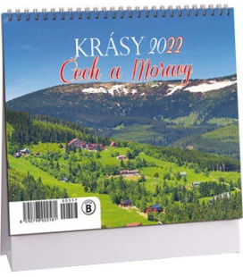 Table calendar Krásy Čech a Moravy mini 2022