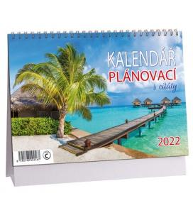 Table calendar Plánovací s citáty - Krajina 2022