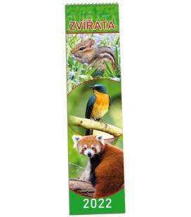 Wall calendar Zvířata - vázanka 2022