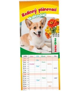 Wall calendar Rodinný plánovací - Mazlíčci 2022
