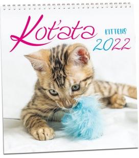 Wall calendar Koťata 2022