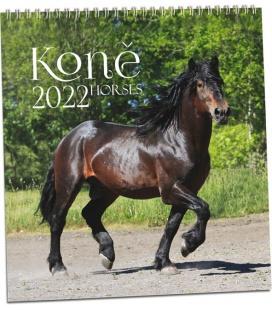 Wall calendar Koně 2022