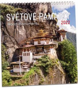 Wall calendar Světové památky 2022