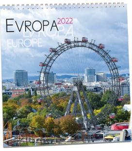 Wall calendar Evropa 2022