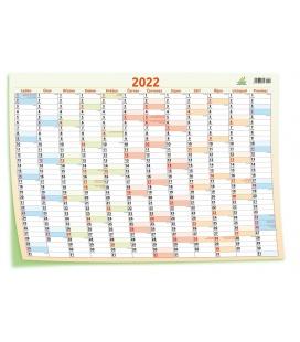 Wall calendar Yearly planing map / Plakát mapový 69 x 47,5 cm 2022