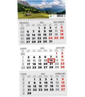 Wall calendar 3 monthly / Tříměsíční s okénkem 2022