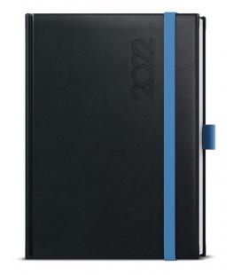 Weekly Diary A5 - Oskar - Reno  black, blue 2022