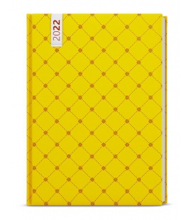 Weekly Diary A5 - Oskar - lamino -  yellow 2022