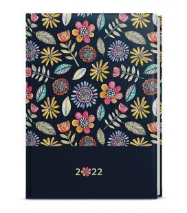 Weekly Diary A5 - Oskar - lamino -  black 2022