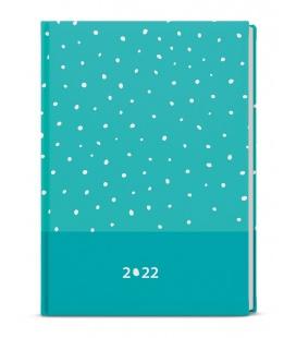 Weekly Diary A5 - Oskar - lamino -   turquoise 2022