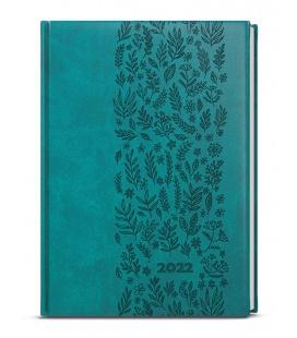 Weekly Diary A5 - Oskar - vivella s ražbou  turquoise - Louka 2022