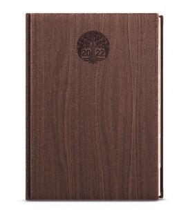 Weekly Diary A5 - Oskar - wood brown 2022