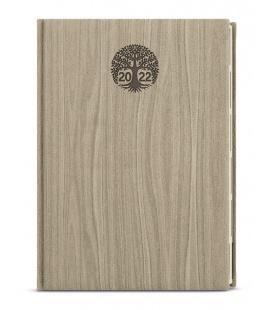 Weekly Diary A5 - Oskar - wood light brown 2022