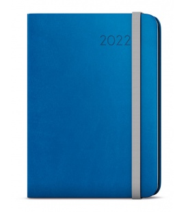 Weekly Diary A5 with notes - Zoro - flexi blue, grey 2022