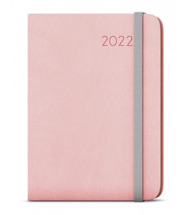 Weekly Diary A5 with notes - Zoro - flexi pink, grey 2022