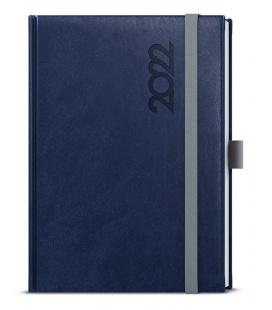 Daily Diary A5 - David - Reno blue, grey 2022