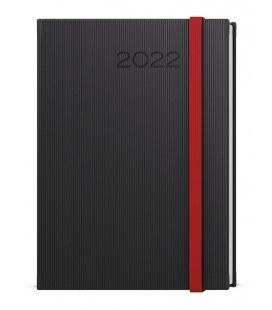 Daily Diary A5 - David - vigo black, red 2022
