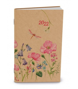 Fortnightly Pocket Diary - Alois - kraft - Luční květy 2022