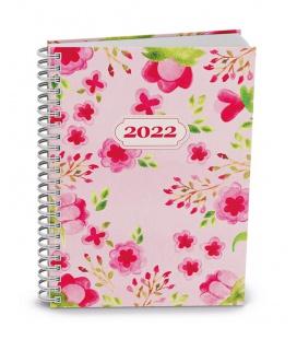 Weekly Pocket Diary - Egon - twin wire - lamino - Květy 2022