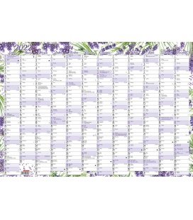 Wall calendar Yearly planing map (600x420 mm) - Levandule 2022