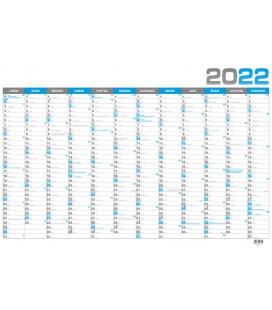 Wall calendar Yearly calendar B1 - modrý 2022