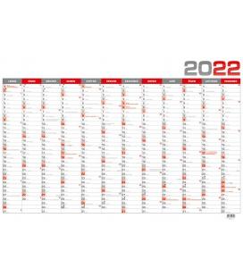 Wall calendar Yearly calendar B1 - červený 2022